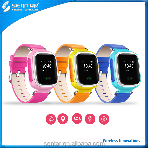 Smart Mobile Android iOS APP Children GPS Tracking Watch with SOS Remote Monitor