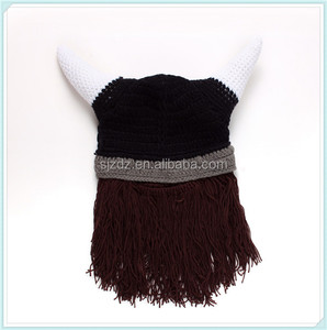 Manufacturer wholesale cotton crochet baby hat with beard knit infant caps