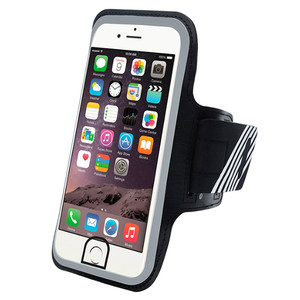 Fashion Design Accessories Outdoor Reflective PVC Running Sport Phone Armband for iphone 7