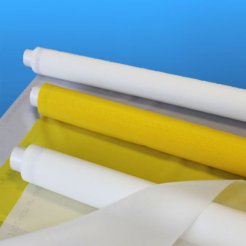 high tension 80 100 110 135 150 180 195 200 250 280 300 mesh monofilament polyester silk screen printing mesh / bolting cloth