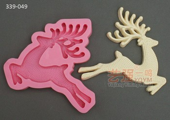 deer shaped silicone moldsilicone chocolate mould 3dsilicone christmas cake mouldcraft