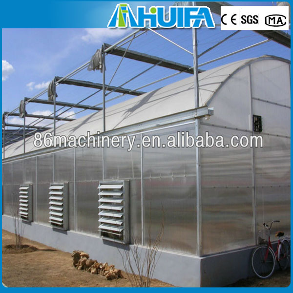 Open Roof Evaporative Cooling Pad In Greenhouse Centrifugal Fan
