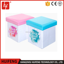 foldable For Kids-Foldable Sublimation blanks Ottoman Storage Stool Seat Box for sublimation