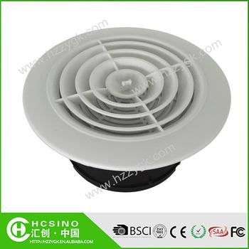 Round Hvac Air Conditioning Diffuser Plastic Ceiling Duct