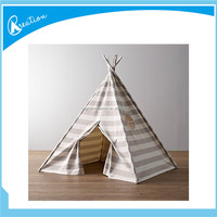 roof top tent car kids camping,outside toy tent ,grey and white stripe camping tipi