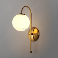 modern decorative golden color E14 arabic style glass ball luxury wall lamp
