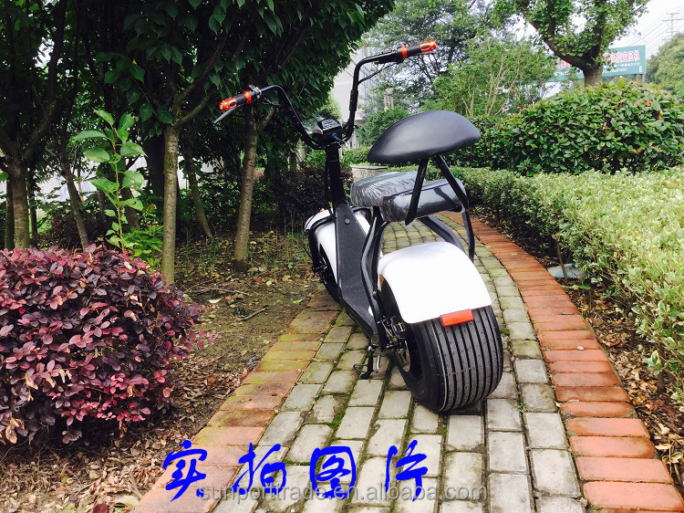 Factory Supply Upgrade best cheap price 2 Seats 1000w electric scooter citycoco scooter two big wheels for cool sports