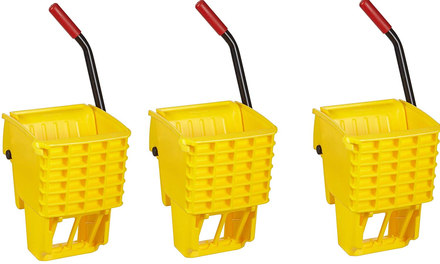 Rubbermaid Commercial FG612788YEL Side-Press Wringer for 13- to 32-ounceWaveBrake Mop Buckets, Yellow (3 PACK)