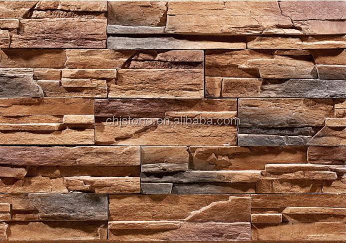 Piedra artificial para interiores simple pared poblet - Paneles de piedra artificial ...