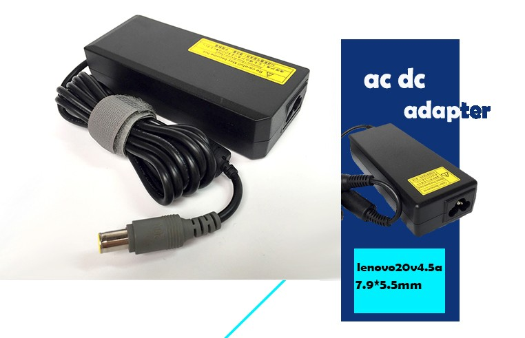 7.9*5.5 mm dc power charger adapter 20V 4.5A 90W ac dc adapter universal adapter