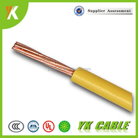 Flexible copper electrical wire for household 6mm 4mm single core cable
