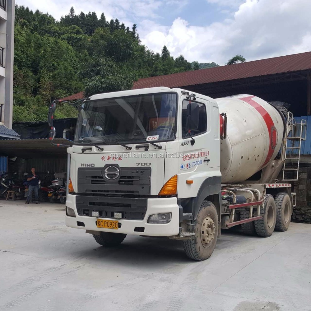 Great Promotion 80% New Sany 10m3 Transit Mixer Hino Chassis