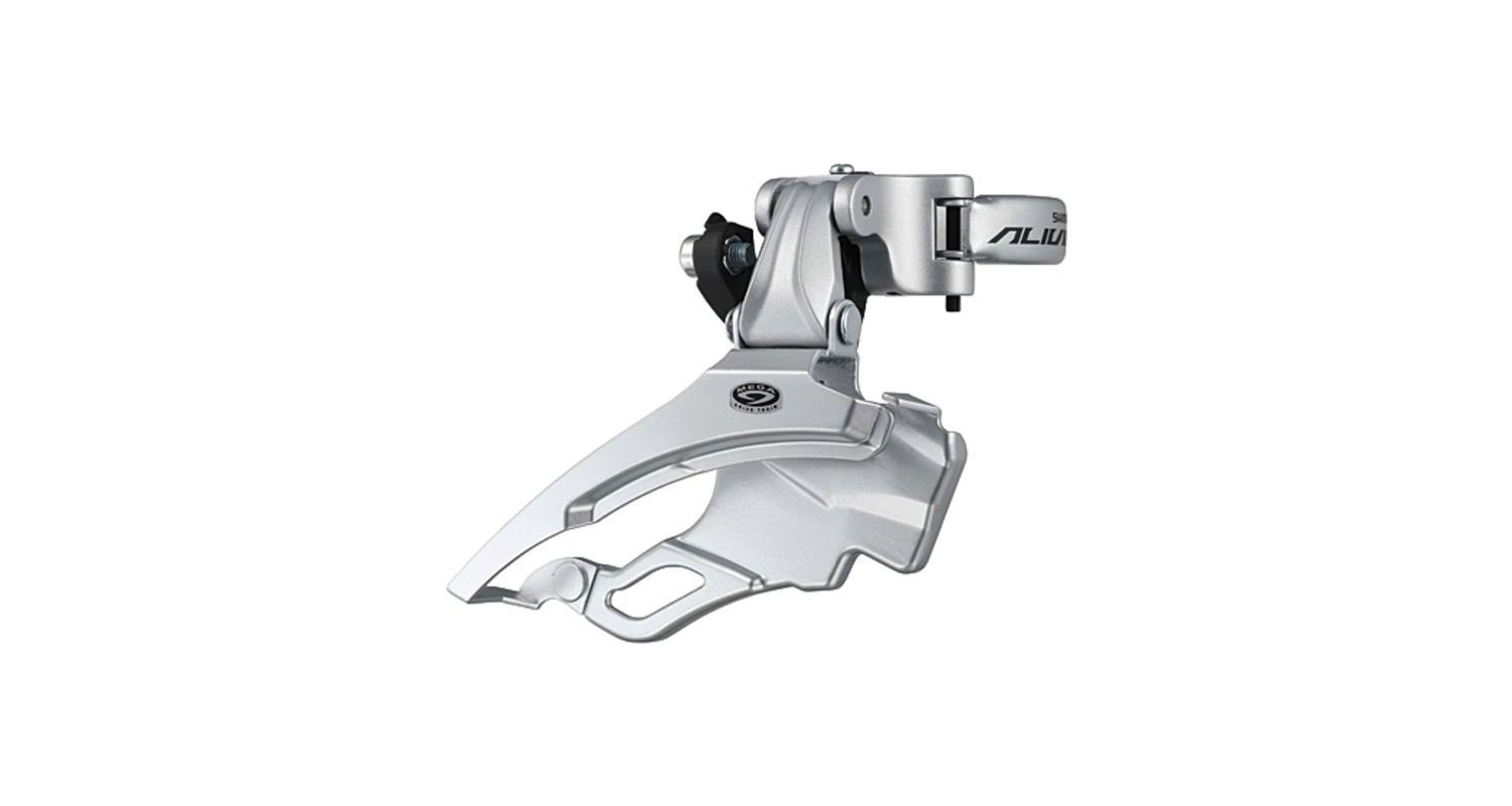 (GIG) (PK) Shimano Alivio FD-M431 Alivio 9-speed front derailleur, conventional swing, dual-pull