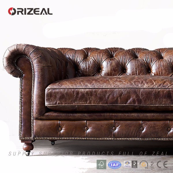 Orizeal Low High End Tufted Sofa,Cheap Leather Sofa For