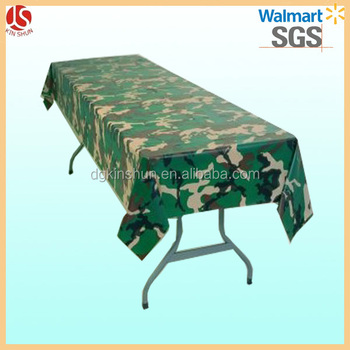 54u0026quot; X 84u0026quot; Plastic Camouflage Table Overlay Cover Party Supply  Poly Table Cloth