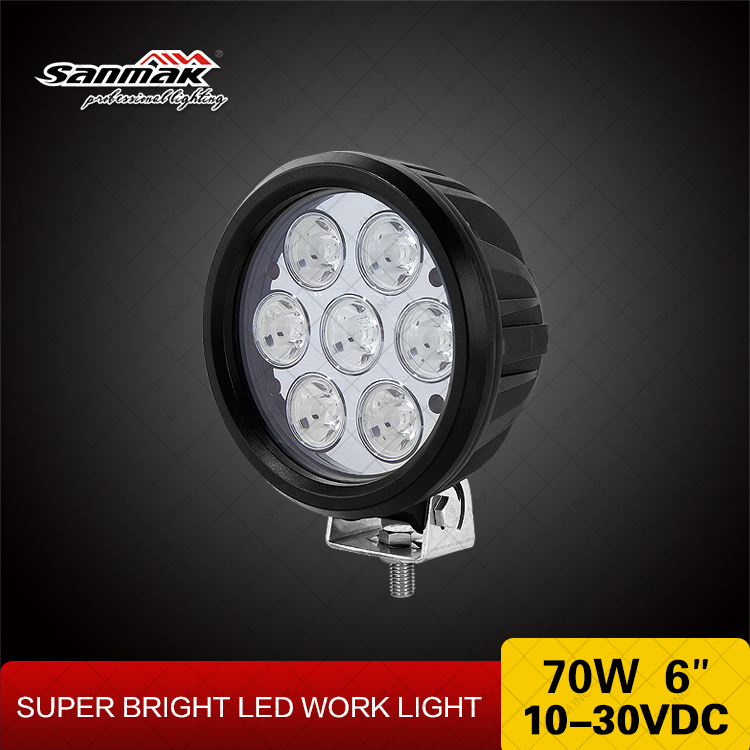 Heavy Duty LED Work Lights 70w LED Flood Light Work Lamp 6 inch CREE Round Spot LED Driving Light