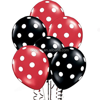 Premium Quality Mickey Mouse Balloons Party Favors Minnie Mouse Polka Dots Latex Balloons Red Yellow Black Baby Shower Supplies Buy Mickey Mouse