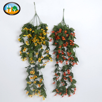 Hanging artificial flowers artificial long flower arrangements for decoration