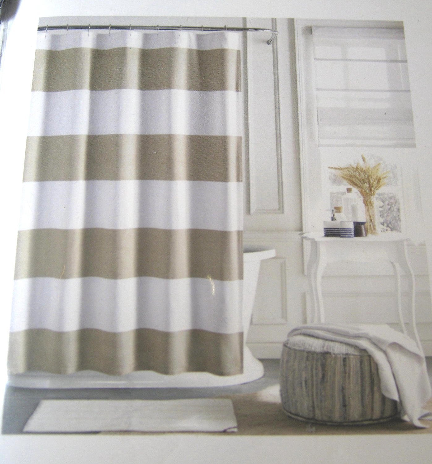 Buy Tommy Hilfiger Cabana Stripe Shower Curtain Gray And