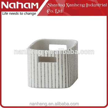 NAHAM durable cheap small rectangular fabric storage baskets