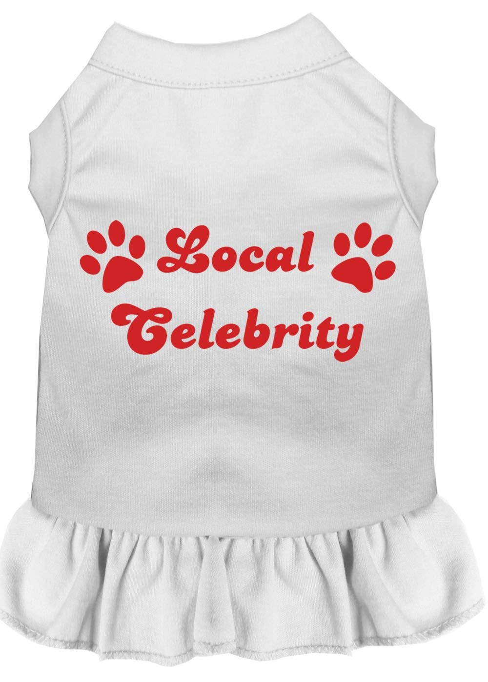 Mirage Pet Products 58-11 XXLWT White Local Celebrity Screen Print Dress, XX-Large
