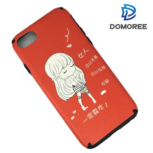 Noctilucent waterproof cartoon girl soft TPU back cover phone case