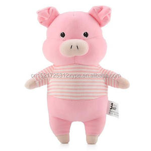 Super soft organic cotton lovers wear clothes cartoon animal plush toys baby doll pig/chicken/ bunny/bear