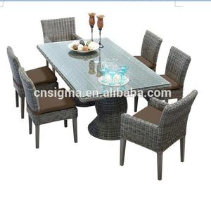 Sigma bamboo patio wicker outdoor table sets furniture sale