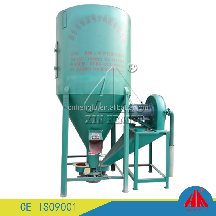 Low consumption animal feed mixer and grinder corn seed crusher mixer