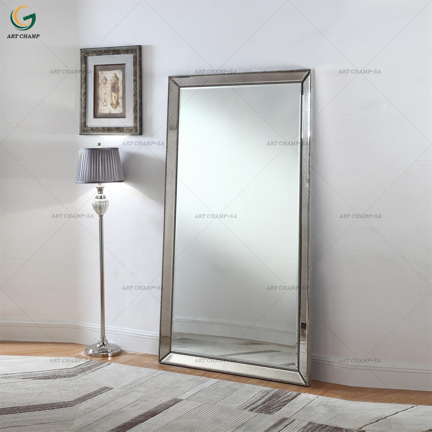 Ventian Style Standing Wooden Framed Large Full Length Wall Mirror Product On Alibaba