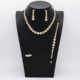 25% Off necklace and earring sets imitation diamond african gold jewelry for gift promotion