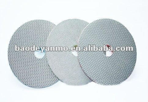 Velcro backed diamond polishing pads