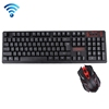 Dropshipping HK6500 2.4GHz 104 Keys Wireless Keyboard + 1600DPI Wireless Optical Mouse with Embedded USB Receiver for Computer
