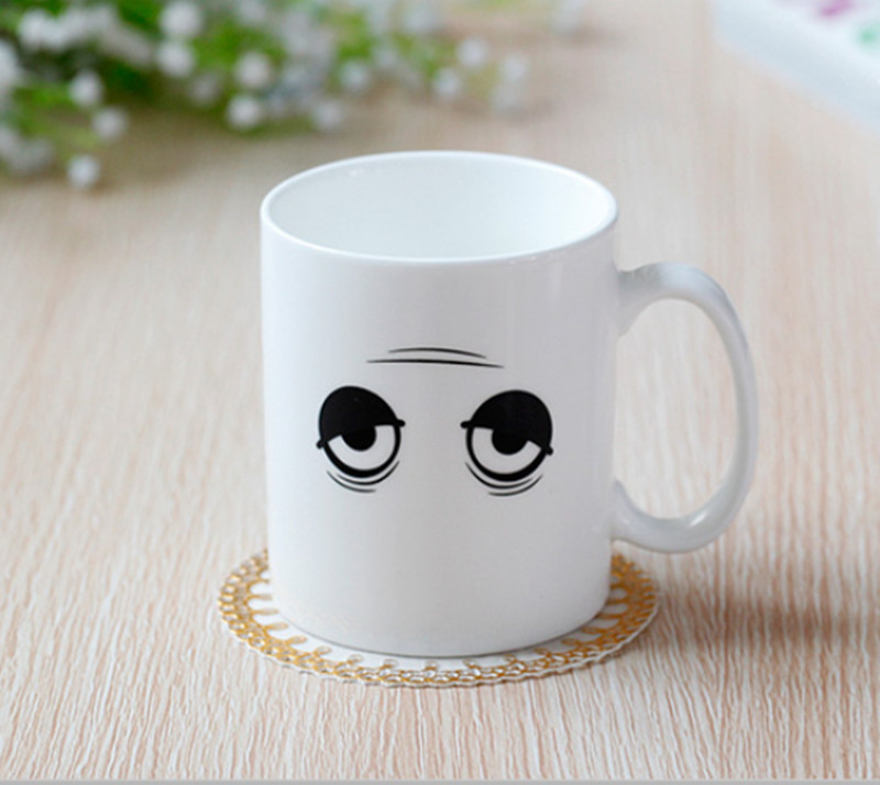 Heat reactive Monday morning magic Mug that changes with hot water heat changing mug