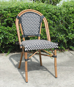 Classical Paris Bistro Aluminum Bamboo Chair French Rattan Bistro Chairs