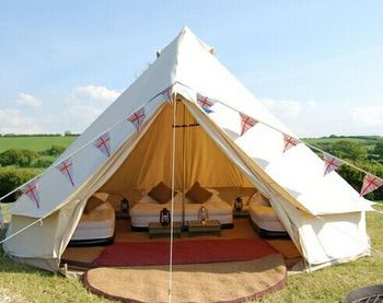 quality design 154fe 35451 Outdoor Camping Cotton Canvas 5m Waterproof Bell Tent Teepee Yurt Glamping  Tent - Buy Bell Tent,Yurt Tent,Canvas Tent Product on Alibaba.com
