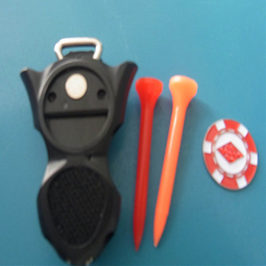 Multi function 4 In 1 Golf Divot Tool Ball Marker Tee Holder Glove Holder