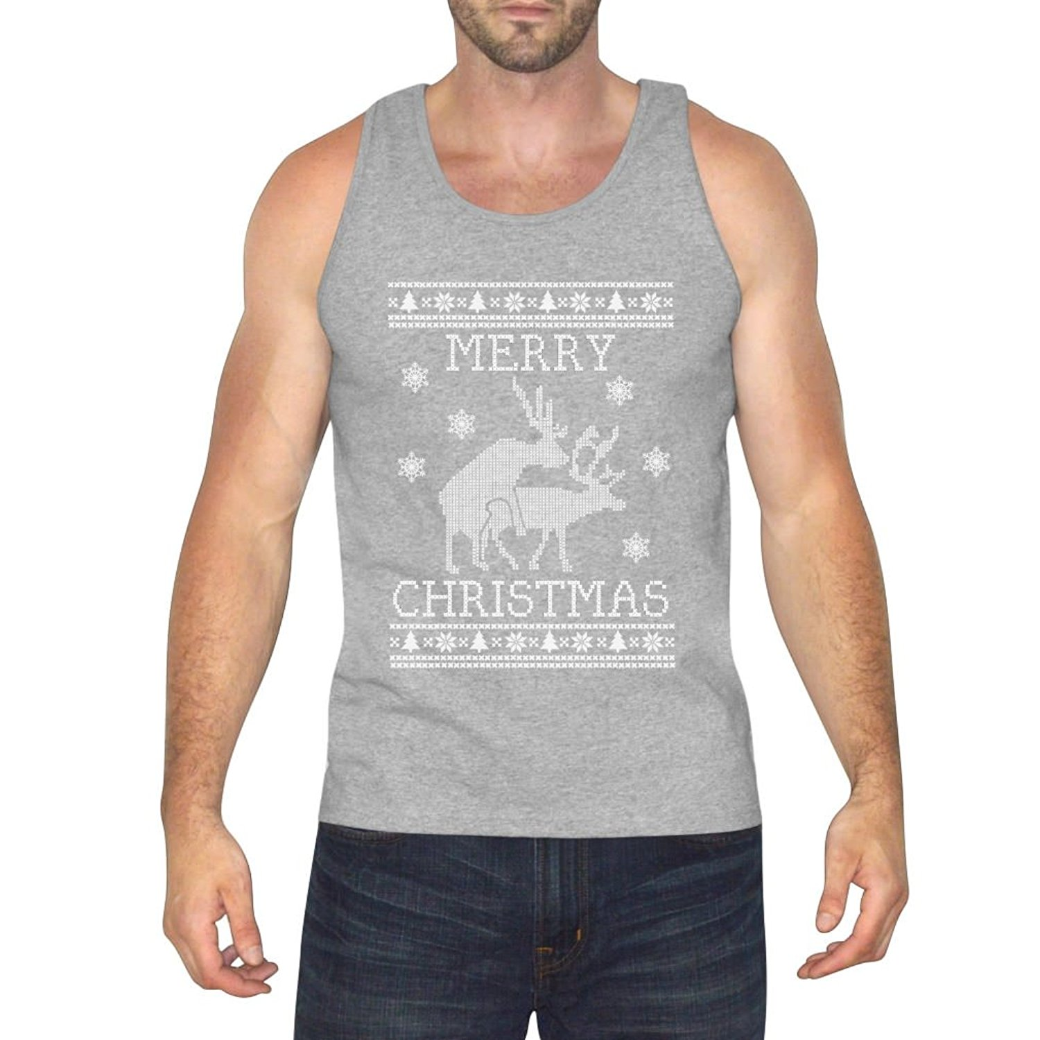 Funny Gift for Dad Father Ugly Christmas Singlet TeeStars