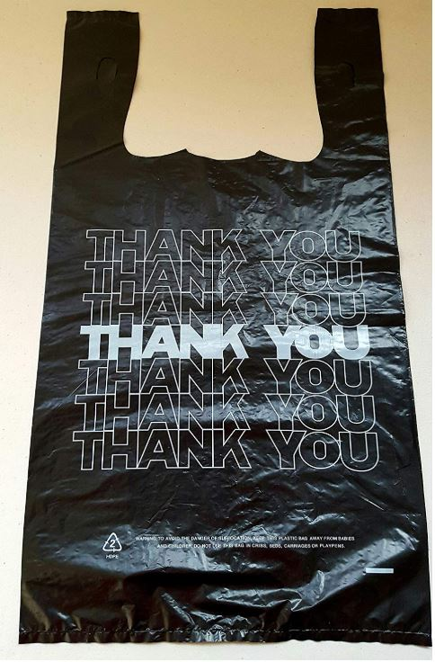 HDPE strong white t shirt plastic shopping bag for food