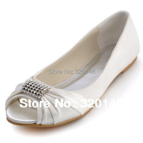 Flat Bridal Shoes With Rhinestones