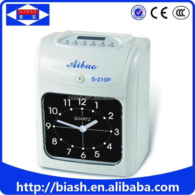 time attendance machine punch card time Clock