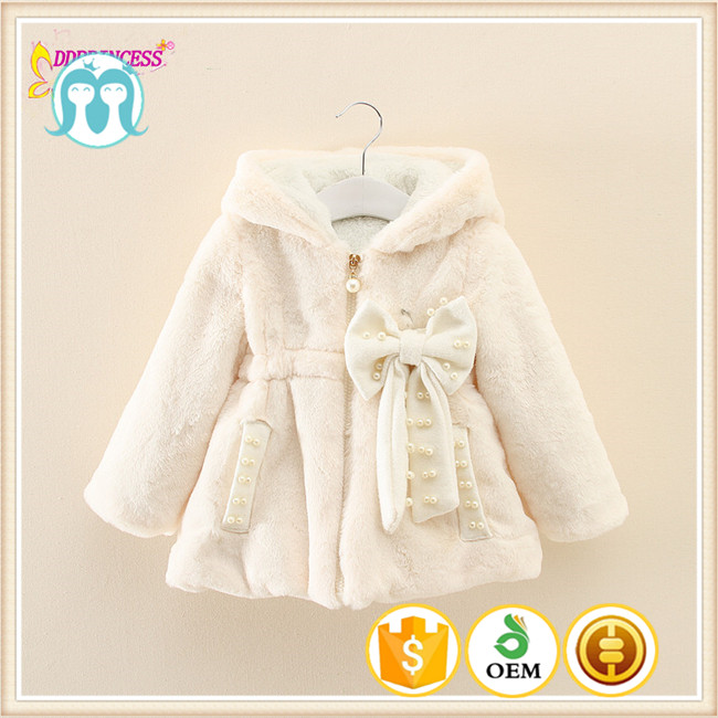 2015 Winter Season Baby Faux Fur Clothes / Beautiful Hooded Lammy Baby Girls Winter Coat