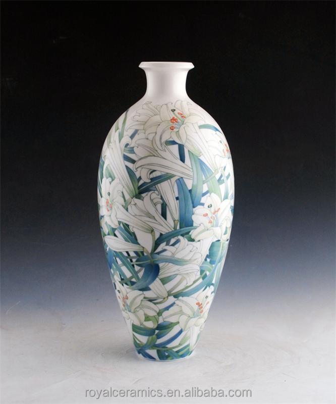 elegante flores patrn de china marca conocida porcelana underglazed pintado a mano vaso de piso