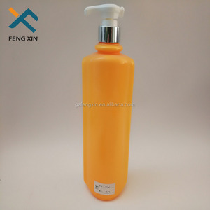 1 liter plastic shampoo bottle with lotion pump