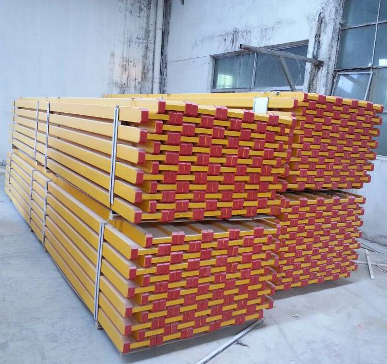 Yellow paint Pine LVL H20 Beam for Construction Formwork