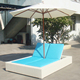 All-weather Beach/Swimming Pool Wicker Sun Bed