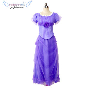 eff6d86f9538f Nutcracker with four kingdom women the same paragraph purple skirt dress  COS clothing Clara cosplay costume