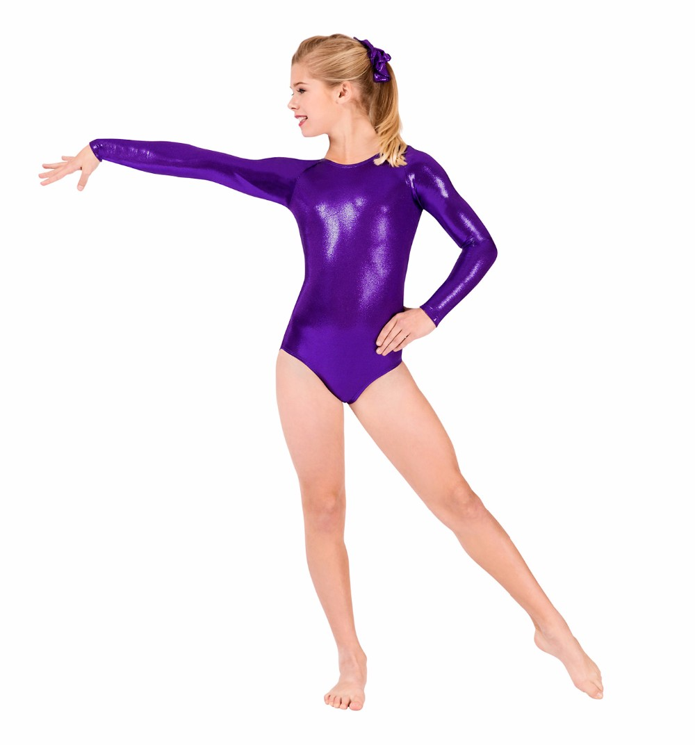2cd4486fa608 2019 Hotsale Ballet Skate Leotards For Girls Metallic Gymnastics ...