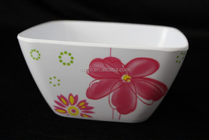 South America Melamine Square Bowl