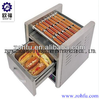 Electric grill hot dog roller buy spike hot dog machine - Hot dog roller grill with bun warmer ...